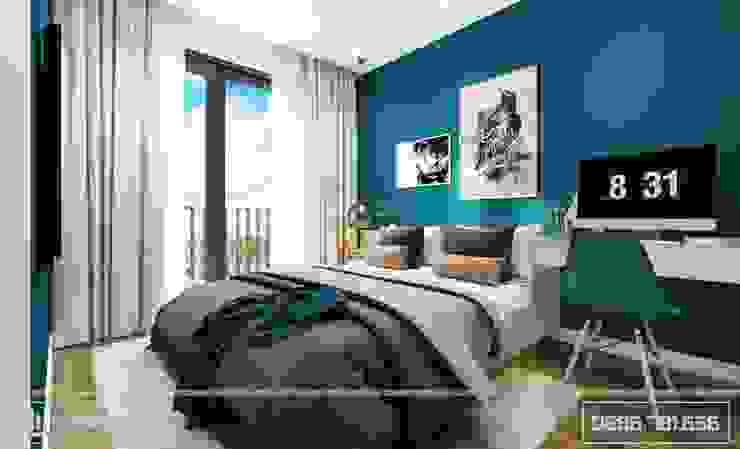 Phòng ngủ nhỏ bởi Thiết kế - Nội thất - Dominer