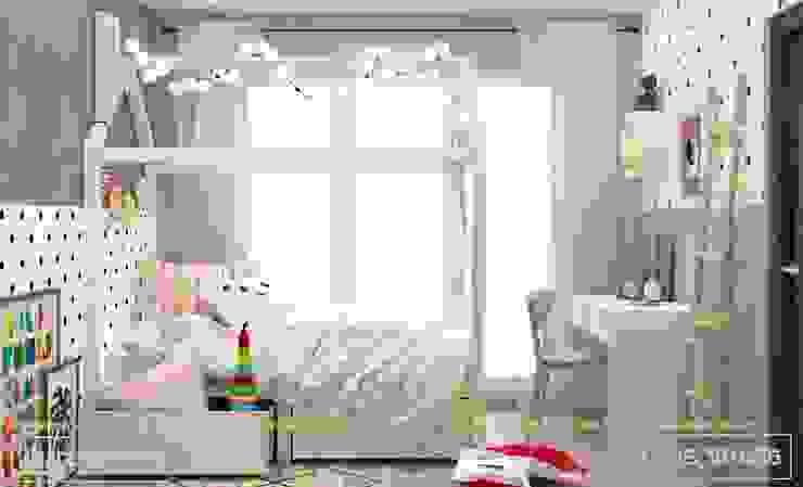 Phòng ngủ bé gái bởi Thiết kế - Nội thất - Dominer
