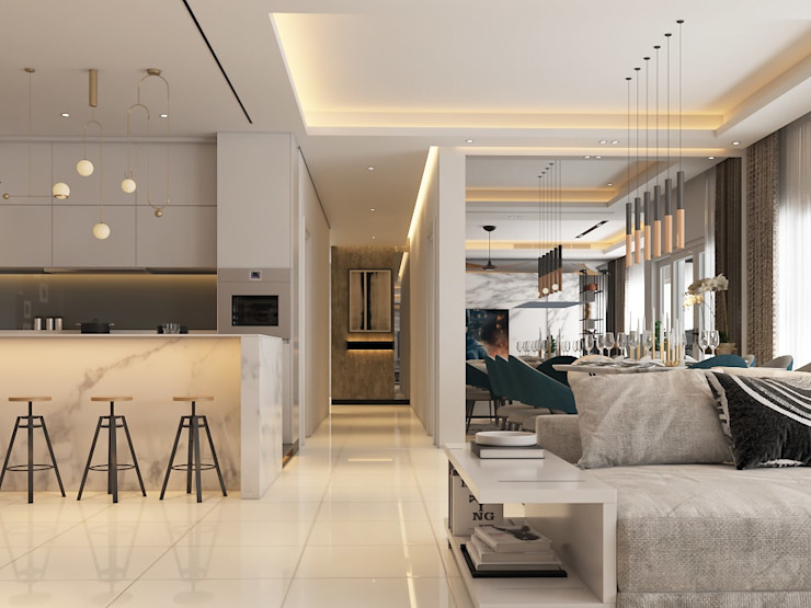 Pavilion Hilltop, Mont Kiara Norm designhaus Modern dining room