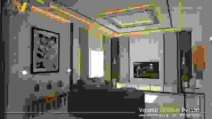 3 BHK Interiors Living room interiors:  Living room by Vadhia Interiors Pvt Ltd