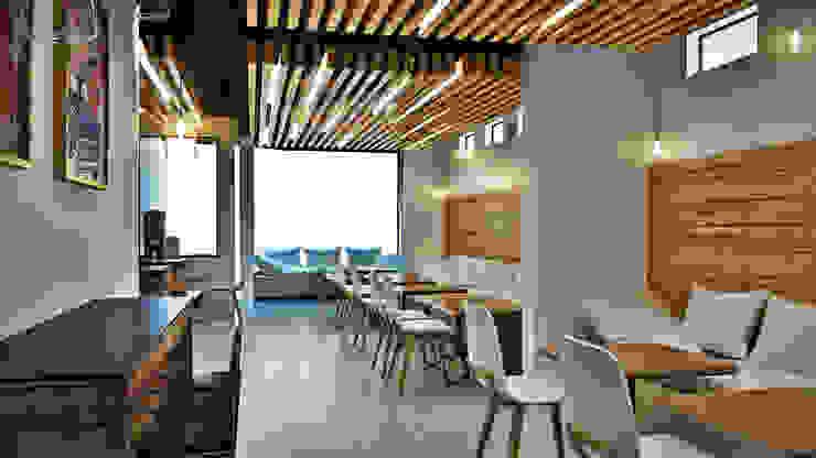 CAFETERIA SAN MIGUEL Comedores de estilo moderno de AOG Moderno Derivados de madera Transparente