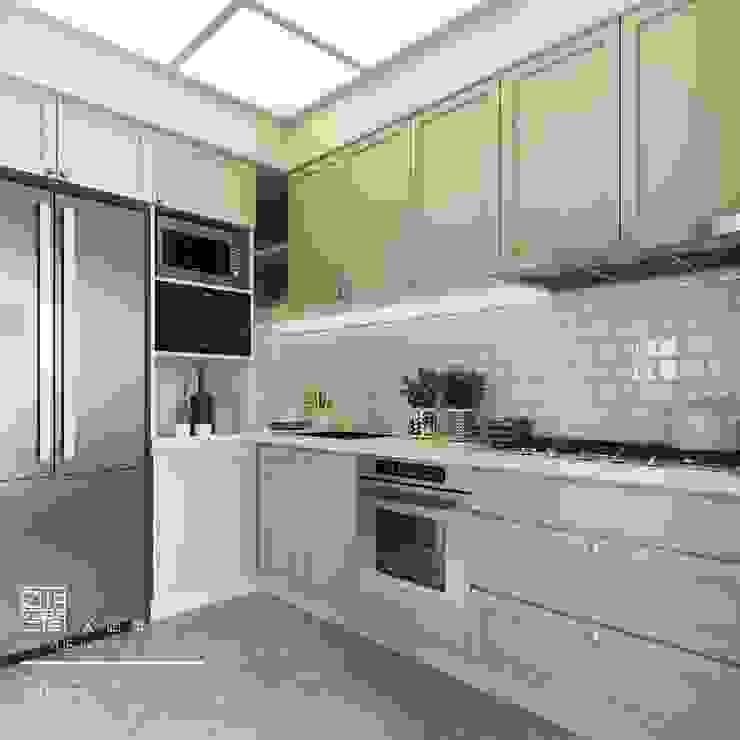 百玥空間設計 Muebles de cocinas Contrachapado Verde
