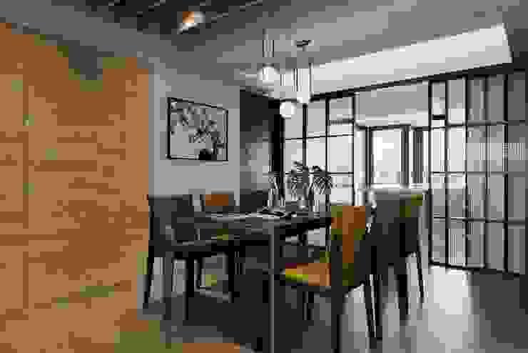 百玥空間設計 ─ 本質 百玥空間設計 餐廳 實木 Brown