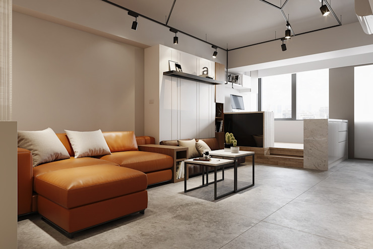 Modern living room by 百玥空間設計 Modern Concrete