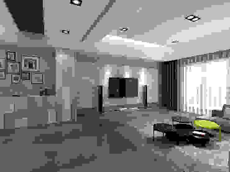百玥空間設計 ─ 記憶 现代客厅設計點子、靈感 & 圖片 根據 百玥空間設計 現代風 大理石