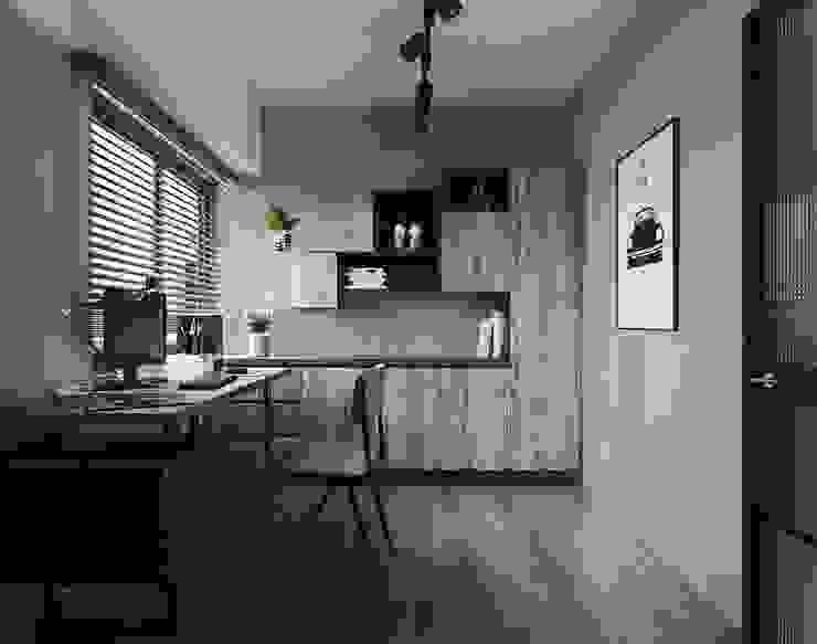 百玥空間設計 ─ 晨 百玥空間設計 書房/辦公室 實木 Wood effect