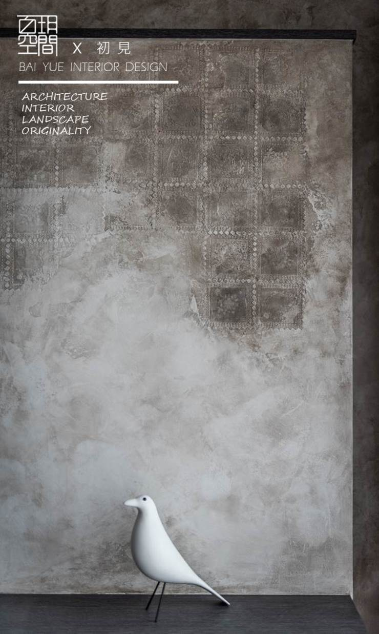 百玥空間設計 ─ 初見 百玥空間設計 现代客厅設計點子、靈感 & 圖片 強化水泥 Grey