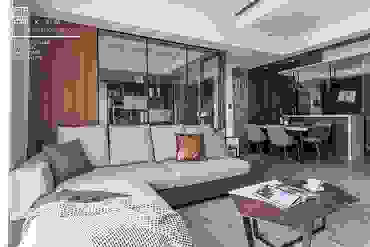 百玥空間設計 ─ 初見 百玥空間設計 现代客厅設計點子、靈感 & 圖片 實木 Wood effect