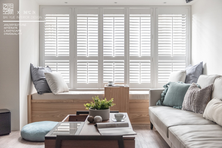 百玥空間設計 Shutters Solid Wood White