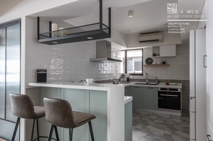 百玥空間設計 Kitchen units Tiles Multicolored