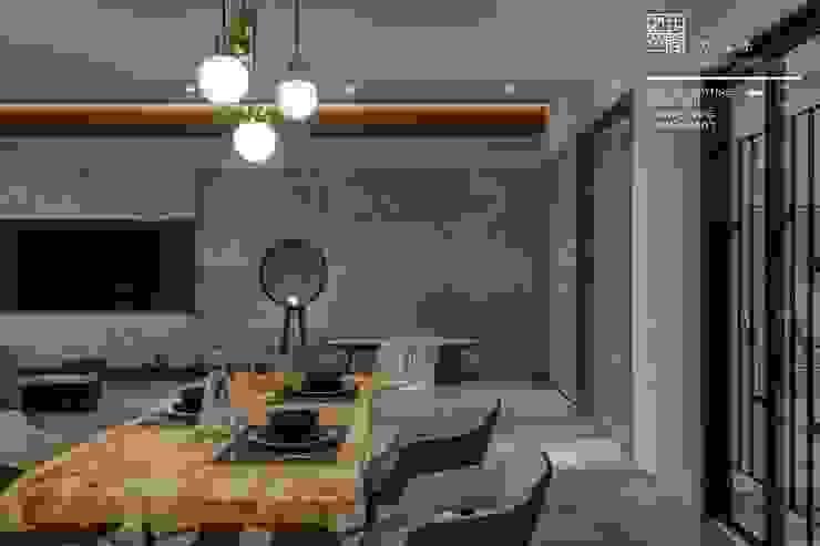 百玥空間設計 ─ 拾光 现代客厅設計點子、靈感 & 圖片 根據 百玥空間設計 現代風 強化水泥