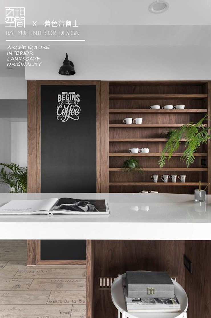 Eclectic style walls & floors by 百玥空間設計 Eclectic Solid Wood Multicolored