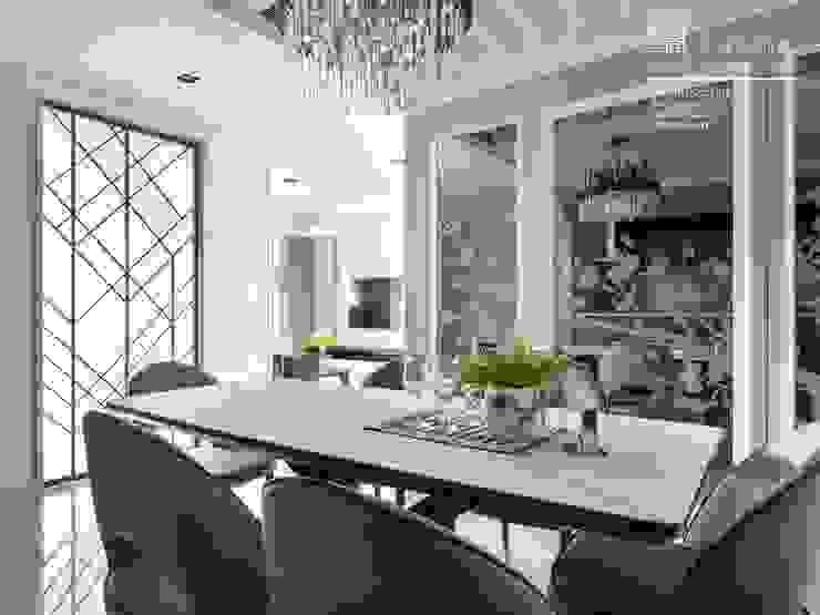 百玥空間設計 ─ 第凡內早餐 Breakfast at Tiffany's 百玥空間設計 餐廳 金屬 White