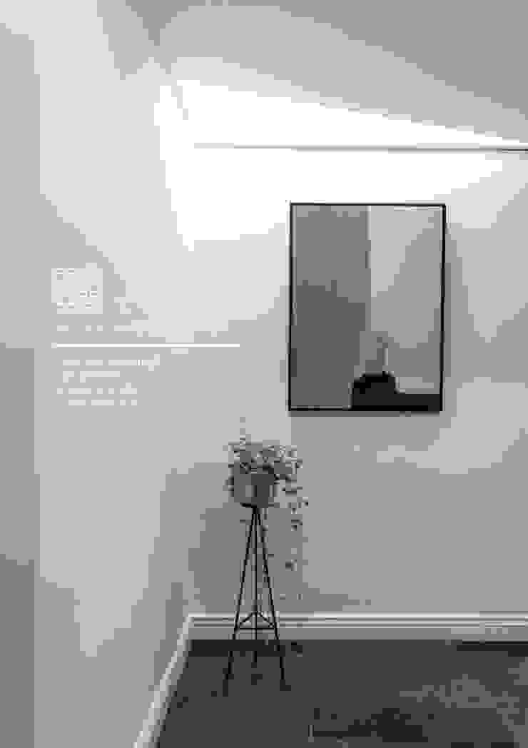 百玥空間設計 ─ 蕭邦狂想曲 隨意取材風玄關、階梯與走廊 根據 百玥空間設計 隨意取材風 水泥