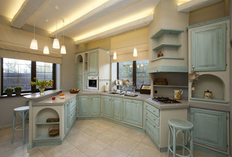 Mediterranean style kitchen by Irina Yakushina Mediterranean Wood Wood effect