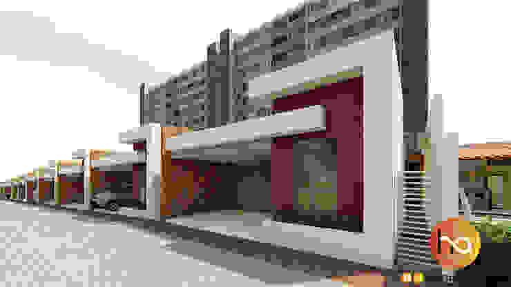 โดย Habitus Arquitetura โมเดิร์น คอนกรีต