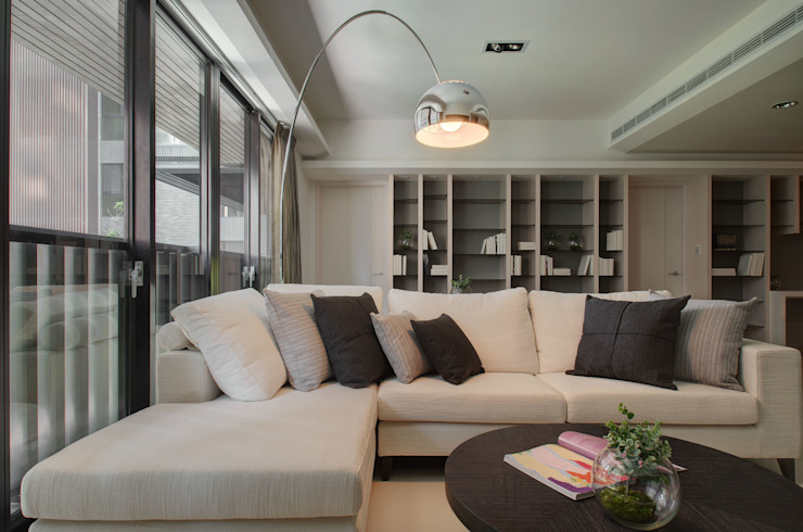 現代簡約 邑舍室內裝修設計工程有限公司 现代客厅設計點子、靈感 & 圖片