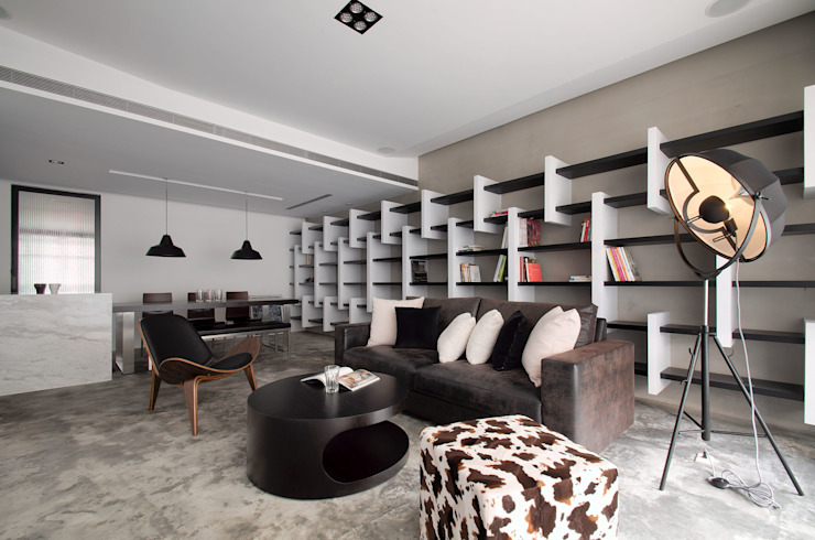 Salas de estilo industrial de 邑舍室內裝修設計工程有限公司 Industrial