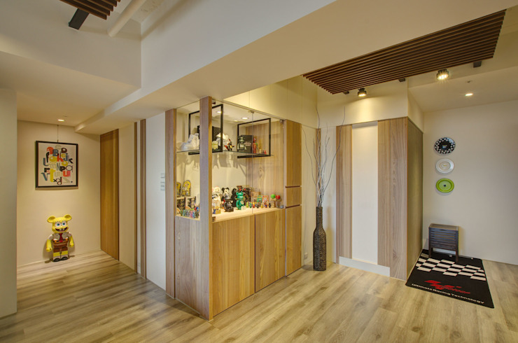 質樸溫潤 亞洲風玄關、階梯與走廊 根據 邑舍室內裝修設計工程有限公司 日式風、東方風