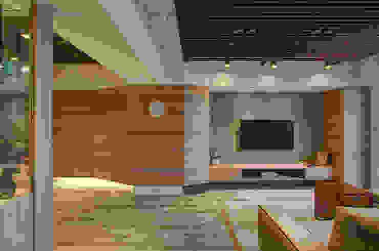 質樸溫潤 邑舍室內裝修設計工程有限公司 客廳