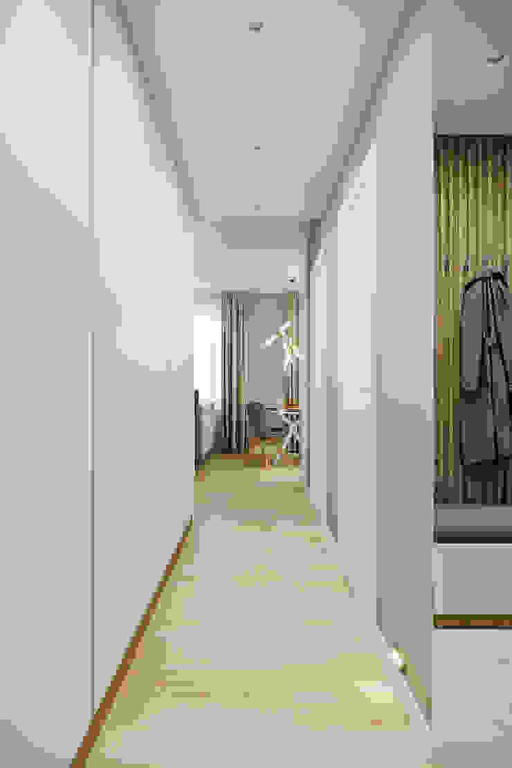 Квартира 60 кв.м. в современном стиле в ЖК Савёловский Сити. Коридор, прихожая и лестница в стиле минимализм от Студия архитектуры и дизайна Дарьи Ельниковой Минимализм