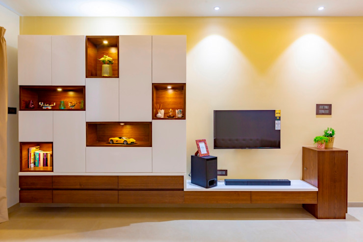 Interior Designer In Pune Olive Interiors 客廳沙發與扶手椅 合板 Grey