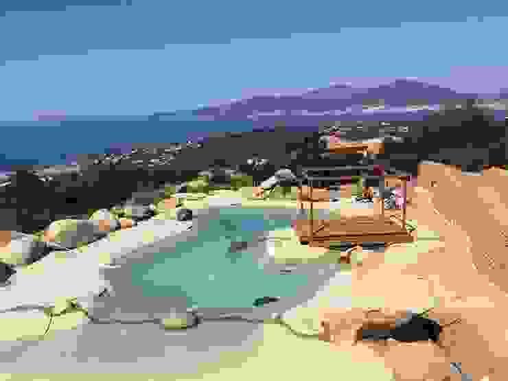 Piscina Naturale ROCKS GARDENS DESIGN Giardino con piscina Pietra Variopinto