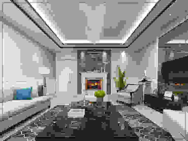 Livings de estilo moderno de avangard mimarlık Moderno