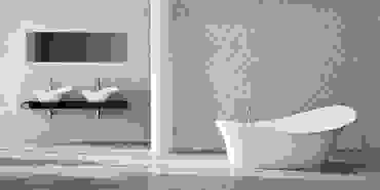 Freistehendebadewanne Gaudi I , Waschtische im Hintergrund Moderne Badezimmer von ZICCO GmbH - Waschbecken und Badewannen in Blankenfelde-Mahlow Modern Marmor