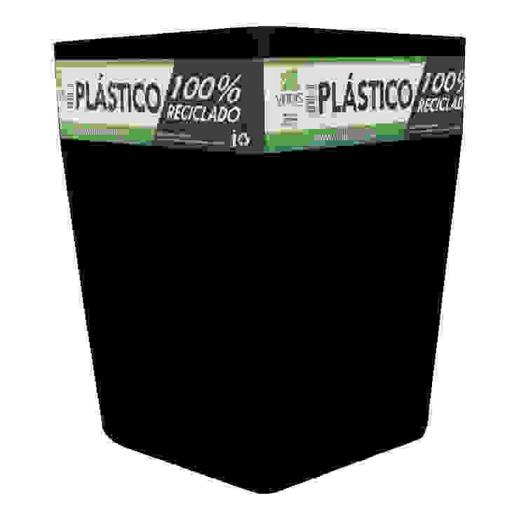 Matera Negra 40cm Inyección de Viridis Productos Eco Amigables Minimalista Plástico