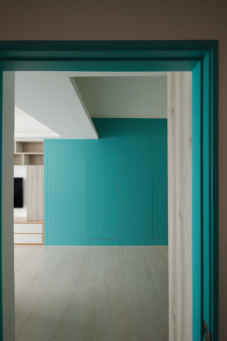 湛藍 文青樂居 斯堪的納維亞風格的走廊,走廊和樓梯 根據 邑舍室內裝修設計工程有限公司 北歐風