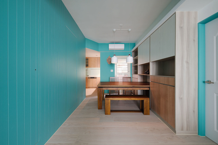 Scandinavian style dining room by 邑舍室內裝修設計工程有限公司 Scandinavian