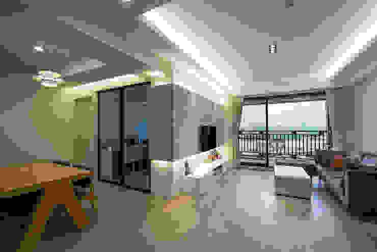 北歐生活-悅河觀景 富亞室內裝修設計工程有限公司 客廳 石板 Grey