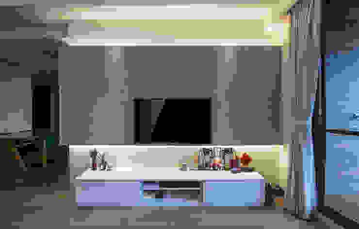 北歐生活-悅河觀景 富亞室內裝修設計工程有限公司 牆面 強化水泥 Grey