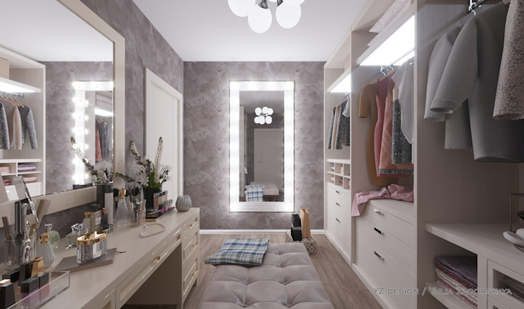 Minimalist dressing room by YZ-design Minimalist Chipboard