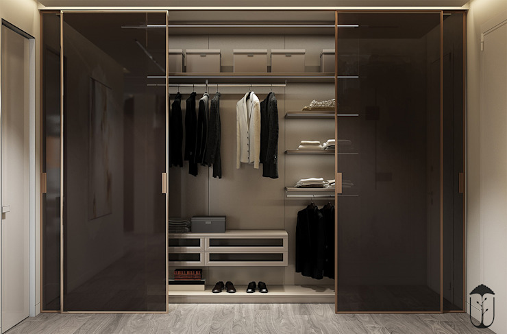 Eclectic style dressing rooms by YOUSUPOVA Eclectic