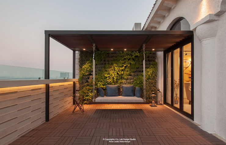 Terrace Modern balcony, veranda & terrace by co_LAB Design Studio Modern
