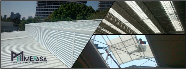 Techos y Mantenimientos | Mevasa Comercializadora Gable roof Metal Metallic/Silver