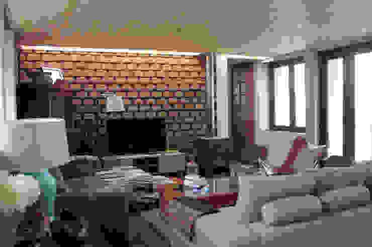 ห้องนั่งเล่น โดย ALIWEN arquitectura & construcción sustentable - Santiago,
