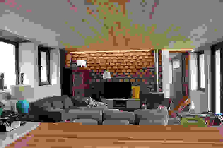 CASA MALLARAUCO - diseño y construcción - Mallarauco / Melipilla / Santiago ALIWEN arquitectura & construcción sustentable - Santiago Livings de estilo moderno