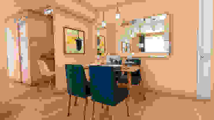 Salas de jantar escandinavas por NF Diseño de Interiores Escandinavo