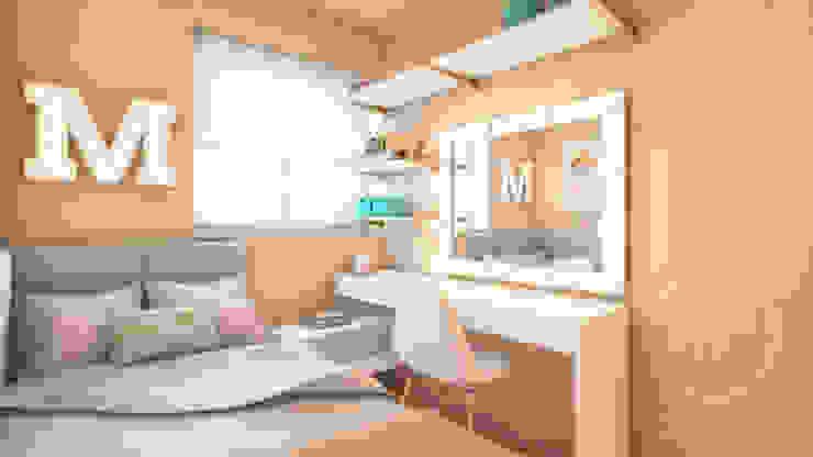 PROYECTO EXCELLENCE - DORMITORIO JUVENIL de NF Diseño de Interiores Moderno