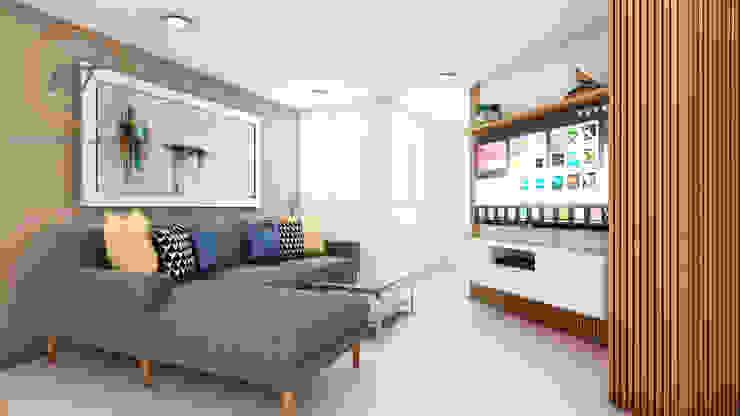 PROYECTO RESIDENCIAL ANIA - SALA Salas modernas de NF Diseño de Interiores Moderno