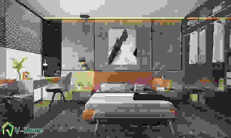 Thiết kế nội thất nhà lô phố hiện đại Đan Phượng – Hà Nội: hiện đại  by Công ty CP tư vấn thiết kế và xây dựng V-Home, Hiện đại