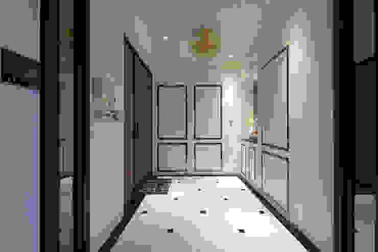 典雅鄉村-霞公錧 經典風格的走廊,走廊和樓梯 根據 富亞室內裝修設計工程有限公司 古典風 大理石