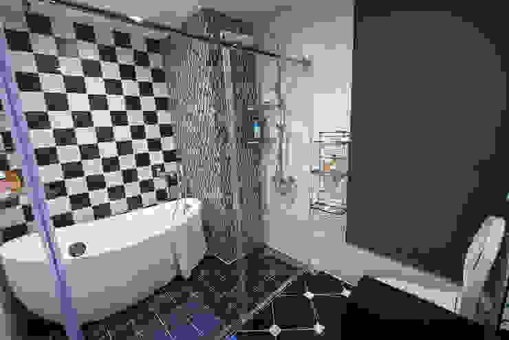 典雅鄉村-霞公錧 現代浴室設計點子、靈感&圖片 根據 富亞室內裝修設計工程有限公司 現代風 磁磚