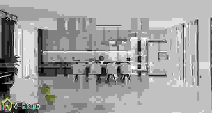 Thiết kế nội thất biệt thự hiện đại – A.Sơn: hiện đại  by Công ty CP tư vấn thiết kế và xây dựng V-Home, Hiện đại