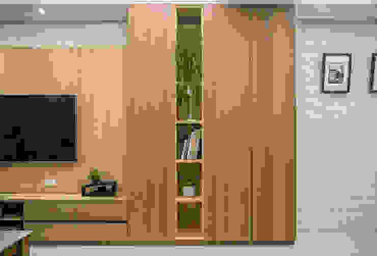 都會的鄉村風-富都新紳 富亞室內裝修設計工程有限公司 Modern Walls and Floors Solid Wood Brown