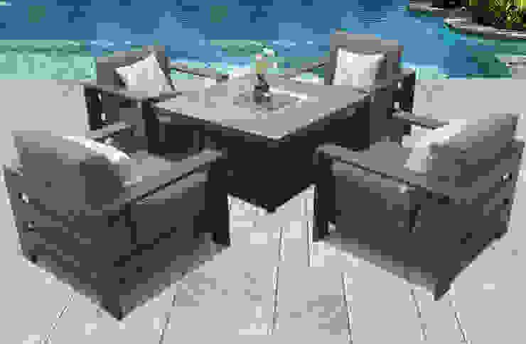 Mesa e cadeiras para outdoor: Jardim  por CRISTINA AFONSO, Design de Interiores, uNIP. Lda