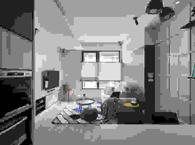 淺灰藍格 Shallow grey vs blue grid 根據 耀昀創意設計有限公司/Alfonso Ideas 北歐風
